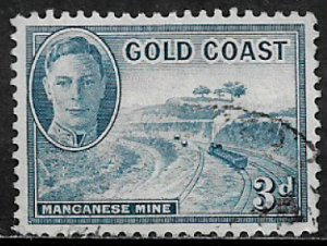 Gold Coast #135 Used Stamp - Maganese Mine