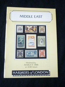 HARMERS AUCTION CATALOGUE 1988 MIDDLE EAST with EGYPT - INTERPOSAL SEALS & IRAQ