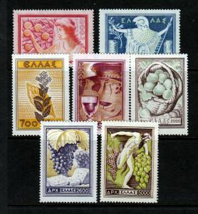 Greece #549-555 BAKKUS WINE Complete Set  - NICE (Mint NEVER HINGED) cv$101.80
