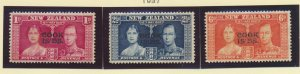Cook Islands Stamps Scott #109 To 111, Mint Hinged