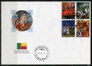 BENIN  2018  RUSSIAN PAINTER NATHALIE CONTCHAROFF SET  OF  FOUR  FIRST DAY COVER