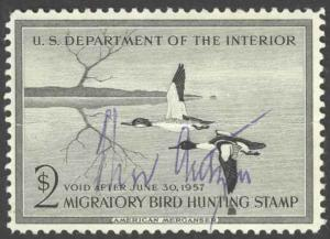 USA Sc# RW23 Used 1956 $2 Hunting Permit Stamp