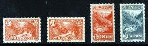 ANDORRA (French) 1932-43 Views Part Set SG F36, F45, F52 & F53 MINT