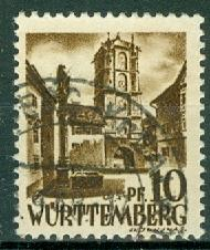 Germany - French Occupation - Wurttemberg - Scott 8N17