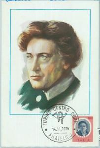 68718 - ITALY - Postal History - MAXIMUM CARD 1975  - MUSIC Busoni