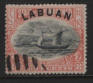 LABUAN, 79, USED, 1897-1900, DHOW
