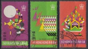 Hong Kong 1975 Festivals Stamps Set of 3 Fine Used