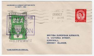 (I.B) Cinderella Collection : BEA Air Letter Service 9d (Kirkwall)