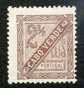 Cape Verde, Scott #P1, Unused, No Gum