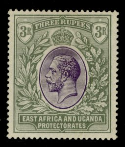 EAST AFRICA and UGANDA GV SG55, 3r violet and green, M MINT. Cat £29.