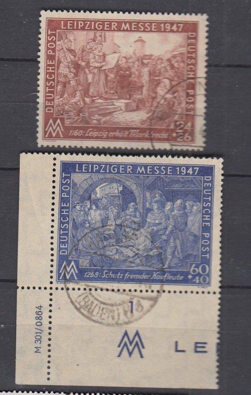 J28716, 1947 germany set used #b296-7