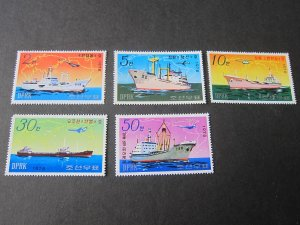 North Korea 1978 Sc 1693-7 ship set MNH