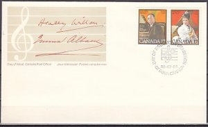 Canada, Scott cat. 860-861. Composer & Soprano issue. First day cover. ^
