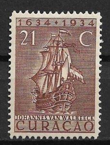 1934 Netherlands Antilles 120 Van Valbeek's Ship 21c MH