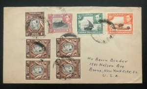 1940s Tanganyika Kenya Uganda British KUT Cover To Bronx NY USA