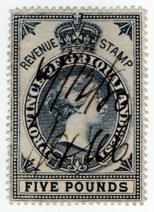 (I.B) Griqualand West Revenue : Duty Stamp £5