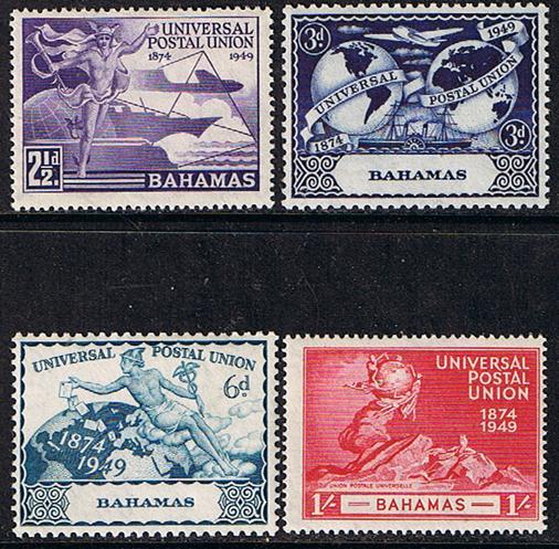 Bahamas Scott #150 To 153, Four Stamp UPU (Universal Postal Union) Complete S...