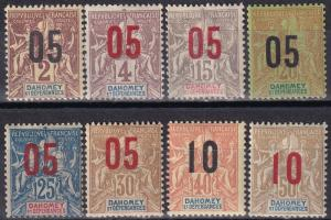 Dahomey #32-9 F-VF Unused  CV $16.00  Z909