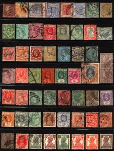 Great Britain & Empire 1841-1923 Used Lot Queen Victoria, King Edward 55 Items