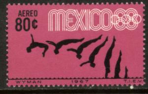 MEXICO C328, 80c Diving 3rd Pre-Olympic Set 1967. MINT, NH. VF.