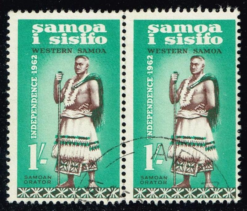 Samoa #247 Talking Chief; Used Pair (1.60)