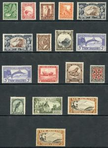 New Zealand SG446/69 Set of 14 plus extras (8d with light tone patch) M/Mint