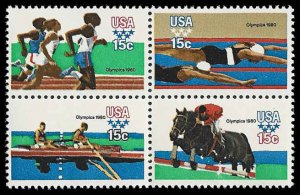 PCBstamps     US #1791/1794a Block 60c(4x15c)Summer Olympics, MNH, (16)