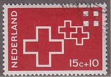 Netherlands   #B425  1967 used  red cross  15c