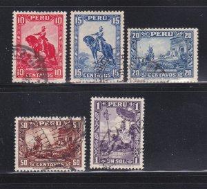 Peru 319-323 Set U Various