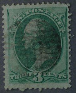 United States #147 3 Cent Washington Used Pale Green