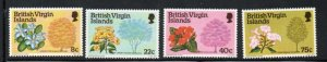 British Virgin Islands Sc 338-41 1978 Flowering Trees  stamp set mint NH