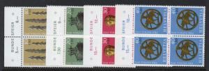 Switzerland Sc B406-409 1972 Pro Patria stamp set mint NH Blocks of 4