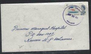 BAHAMAS COVER  (PP2909BB)  1967   QEII 4C COVER KING CORNER TO NASSAU