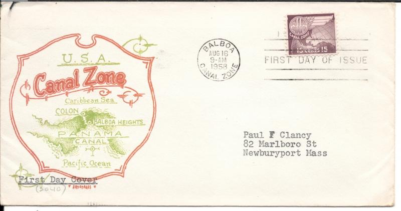 CZ#C29 on First Day Cover - Color Map Cachet