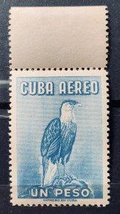 CUBA 1962 SC# C235 BIRD EAGLE TYPE 1956 Air Mail wmk Gutter Sniper MNH