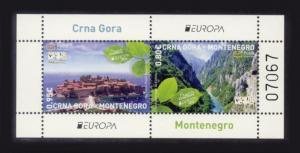 Montenegro Sc# 322a MNH Europa 2012 / Tourism (S/S)