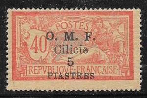 Cilicia #124 5pi on 40c red gray (MLH)  CV$4.00