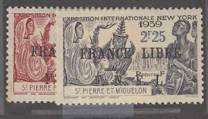 St. Pierre & Miquelon 256-257 Mint VF  H