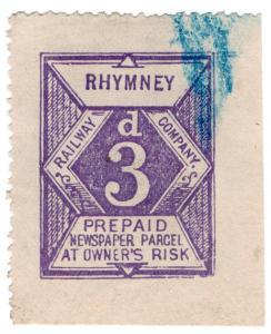 (I.B) Rhymney Railway : Newspaper Parcel 3d