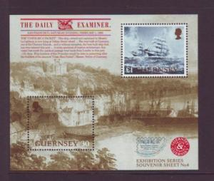 Guernsey Sc 596 1997 Pacific 97 ship stamp sheet mint NH