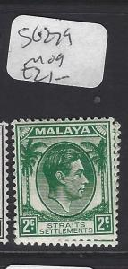 MALAYA STRAITS SETTLEMENTS   (P0510B)  KGV 2C  SG 279     MOG