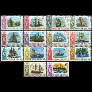 NORFOLK IS. 1967 - Scott# 100-13 Ships Set of 14 NH