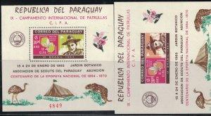Paraguay 85a BoyScouts-Jamboree Sou.Shts.Perf&Imperf MNH 1965