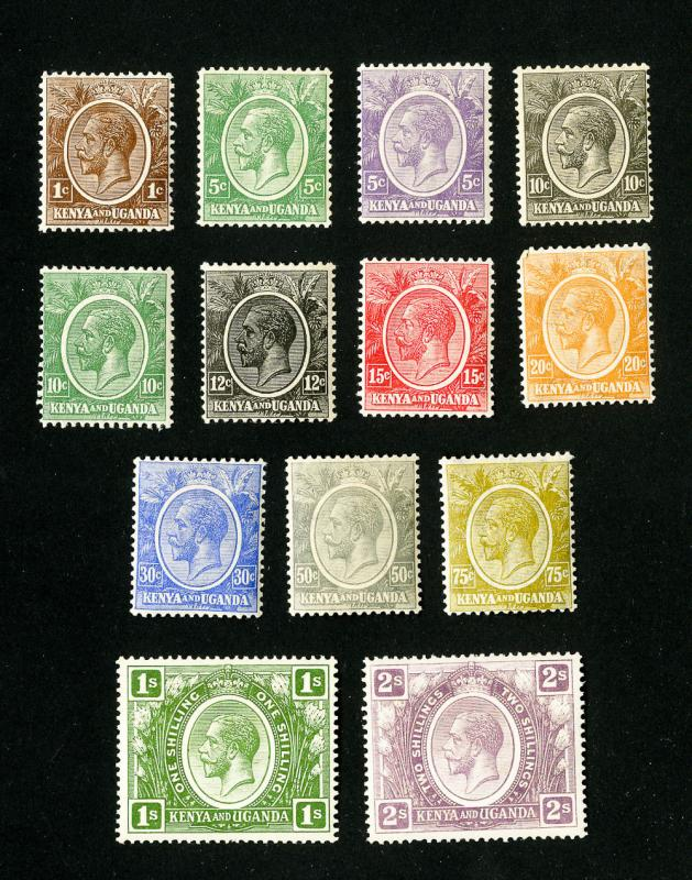 KUT Stamps # 18-30 VF OG LH Set of 13 Scott Value $72.00