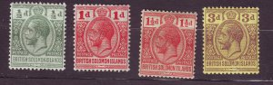 J23731 JLstamps 1913-4 solomos islands mh #19-21,23 king