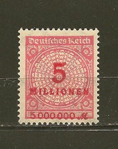 Germany 285 Numeral MNH