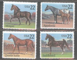 USA Scott 2155-2158 MNH* American Horse Breed set