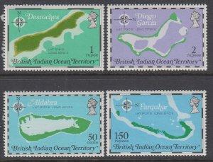 British Indian Ocean Territory 82-85 Maps MNH VF