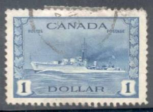 Canada ~ #262 ~ $1 Destroyer ~ Used