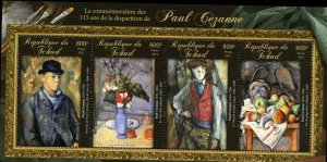 CHAD  2021 115th MEMORIAL OF PAUL CEZANNE SHEET MINT NEVER HINGED